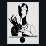 """Art Deco Woman Poster<br><div class=""""desc"""">Peaceful Dreams has inspirational gifts that you can find on t shirts, iPhone, iPad, iPod touch cases, sleeves and skins. You can also find our gifts on mouse pads, coffee cups, posters, canvas prints, coasters, tiles, pillows, flip flops, magnets and more. We also have girly, trendy, hipster chic, nautical, chevron,...</div>"""