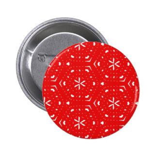 Art Deco Xmas pattern Pinback Button