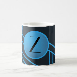 "Art Deco ""Z"" Initial Mug"