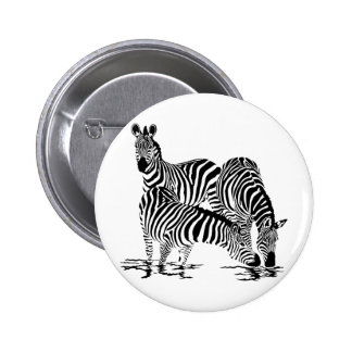 Art Deco  Zebra 2 Inch Round Button