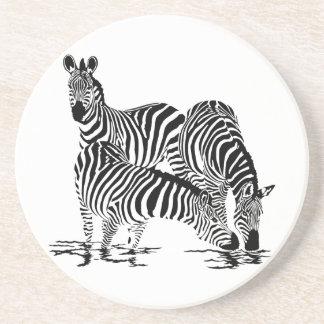 Art Deco  Zebra Coasters