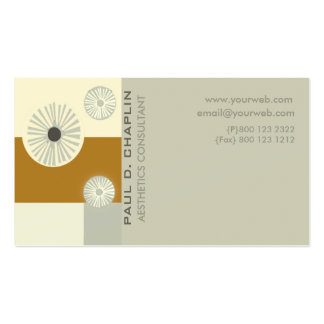 Art Decor Early Modern Minimal Consultant Business Card