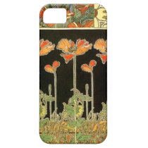 Art décoratifs (orange flowers) by Alphonse Mucha iPhone SE/5/5s Case