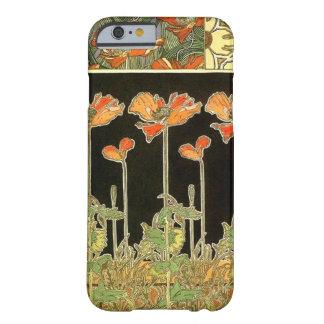 Art décoratifs orange flowers by Alphonse Mucha iPhone 6 Case