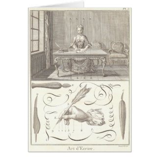 Art d'Ecrire Art of Writing Diderot Encyclopedia Greeting Cards