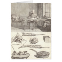 Art d'Ecrire Art of Writing Diderot Encyclopedia Card