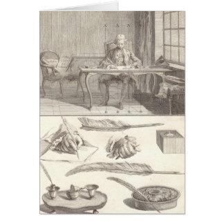 Art d'Ecrire Art of Writing Diderot Encyclopedia Card