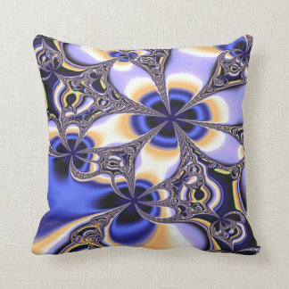 Art Design Blue Throw Pillow