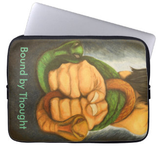 Art design laptop sleeve bound by thought