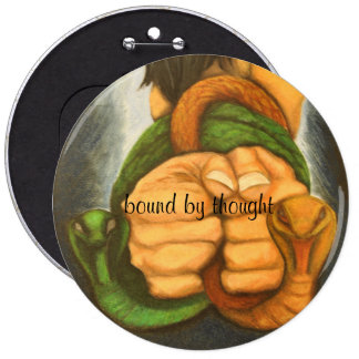 art designer button bound by thought