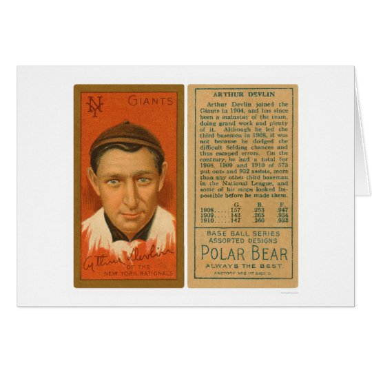 Art Devlin Giants Baseball 1911 Card