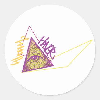 Art Disection 9 Classic Round Sticker