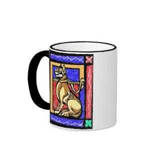 Art Dog Ringer Mug