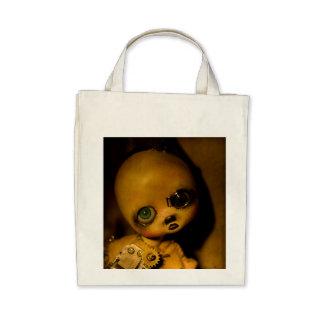 art doll tote canvas bag