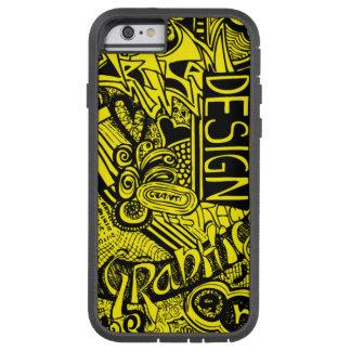 Art Doodle(Black Outline) Tough Xtreme iPhone 6 Case