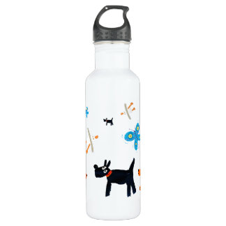 Art Drink Bottle: John Dyer Seagulls and Dogs 24oz Water Bottle