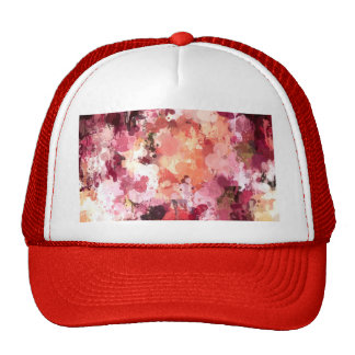Art drip paint floral magnolia by healinglove mesh hats