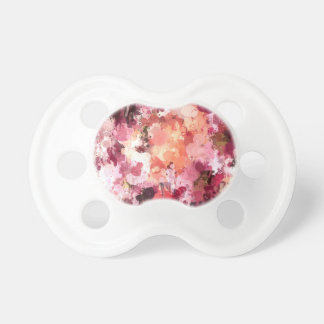 Art drip paint floral magnolia by healinglove baby pacifiers