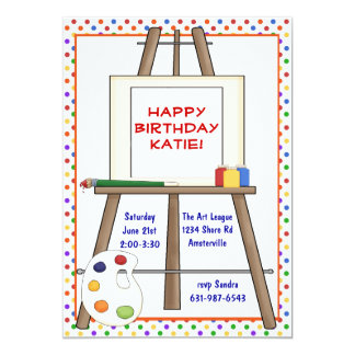Art Easel Invitation