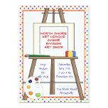 Art Easel Invitation. Card