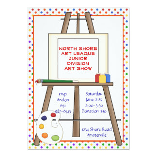 Art Easel Invitation. Card