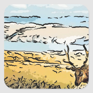 art-elk square sticker