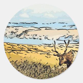 art-elk classic round sticker