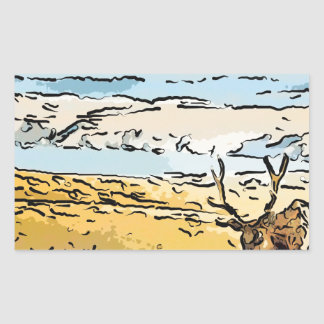 art-elk rectangular sticker