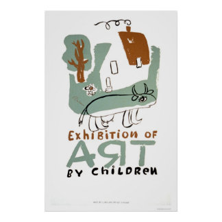 Art Exhibition Children 1936 WPA Poster