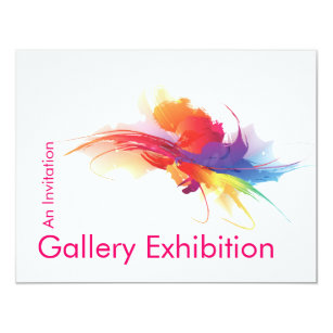 Art exhibition invitations announcements zazzle art exhibition invite stopboris Choice Image