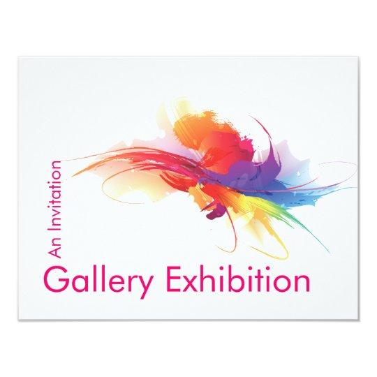 Art Exhibition Invite Zazzlecom
