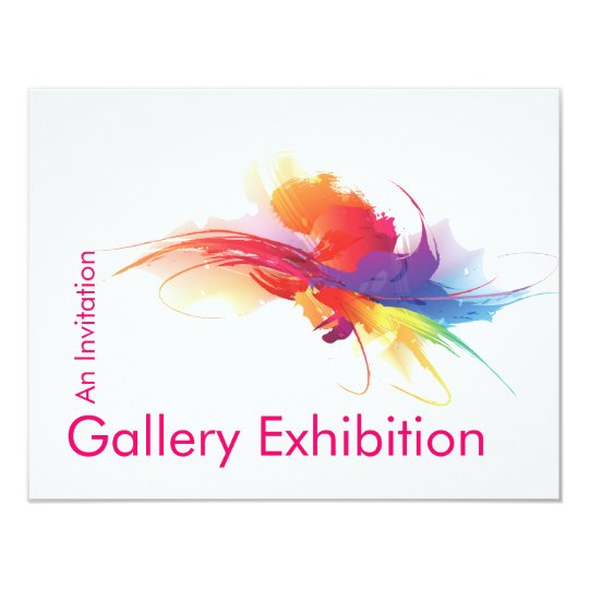 Art Exhibition Invite Zazzle Com