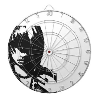Art face black and white dart board