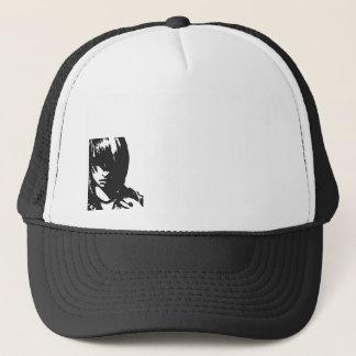 Art face black and white trucker hat