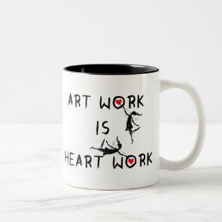 Art Fairies: Art Work Is Heart Work Two-Tone Coffee Mug