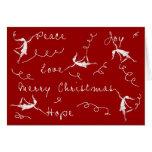 Art Fairies Merry Christmas Card