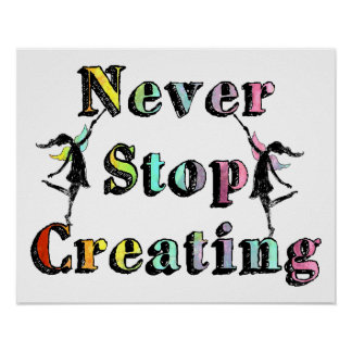 Art Fairies: Never Stop Creating Poster