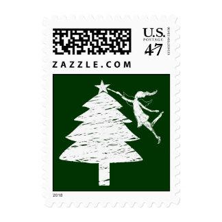 Art Fairy Christmas Tree Postage