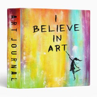 Art Fairy I Believe In Art Colorful Binders