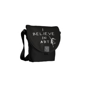 Art Fairy: I Believe In Art Courier Bag