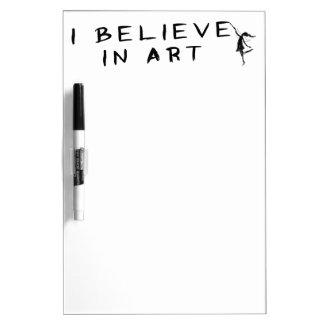 Art Fairy: I Believe In Art Dry-Erase Board