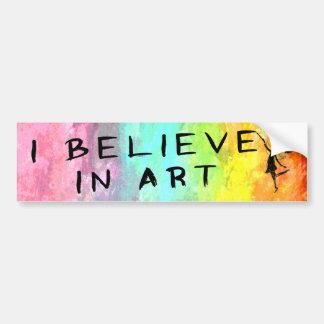 Art Fairy: I Believe In Art Painterly Bumper Sticker