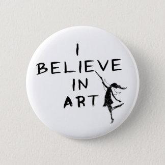 Art Fairy: I Believe In Art Pinback Button