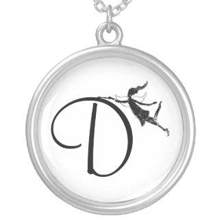 Art Fairy Inital: D Round Pendant Necklace