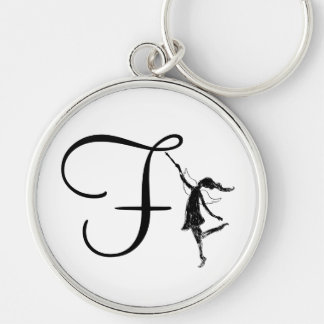Art Fairy Inital: F Keychain