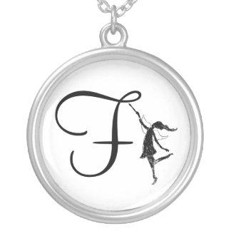 Art Fairy Inital: F Necklace