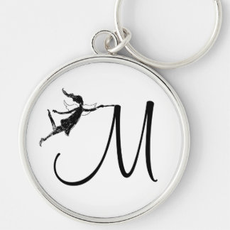 Art Fairy Inital: M Keychain