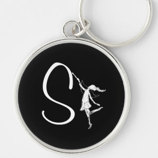 Art Fairy Inital: S Keychain