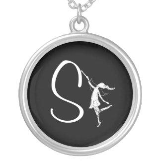 Art Fairy Inital: S Round Pendant Necklace