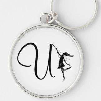 Art Fairy Inital: U Keychain